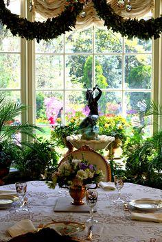 The breakfast room at Hillwood, Marjorie Merriweather Post's former estate.