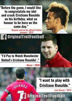 """MSN On Cristiano Ronaldo  "" Soccer Memes, Football Quotes, Football Is Life, Sports Memes, Football Soccer, Real Madrid Cristiano Ronaldo, Cristiano Ronaldo Wallpapers, Cristiano Ronaldo Cr7, Neymar"