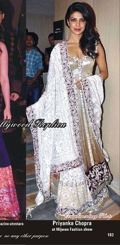 Priyanka Chopra Lehenga at Mijwan Event  Order here - http://rajasthanispecial.com/index.php/womens-collection/bollywood-saree/priyanka-chopra-lehenga-at-mijwan-event.html  Price - USD 158