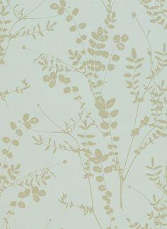 Salbei - Florale Mustertapete von Harlequin - Duckegg