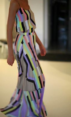 Bright colors maxi dress for ladies .. click the pic for more #outfits