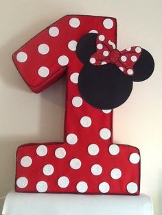 Minnie mickey mouse polka dots Number one Pinata, minnie mouse Party decoration, minnie mouse red,mickey minnie mouse, minnie mouse birthday party Minnie Mouse Pinata, Theme Mickey, Minnie Mouse Birthday Decorations, Minnie Mouse First Birthday, Minnie Mouse Theme, Mickey Party, Decoration Minnie, Festa Mickey Baby, Red Birthday Party