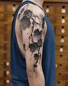 Tattoo artist Chen Jie watercolor tattoo