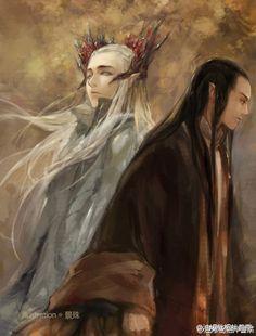 Thranduil and Elrond -- Трандуил и Элронд