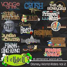 Disney World Rides Vol 2 Word Art