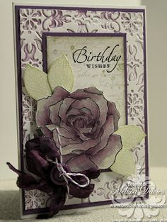 Birthday wishes by scrappedon - Cards and Paper Crafts at Splitcoaststampers