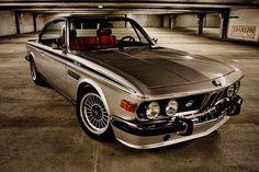 BMW E9 CSL Retro Vintage Car Auto Poster