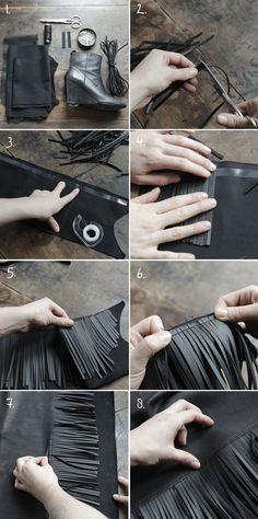 bottes-isabel-maran-DIY1-3 ... Fringed Leather boot tops