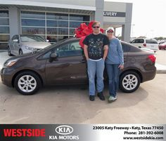 #HappyAnniversary to Brian Gras on your 2013 #Kia #Rio from Everyone at Westside Kia!