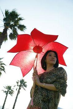 Sakura shaped parasol