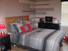 Images Of Red And Grey In Small Bedrooms Small Black Wooden