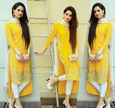 New dress yellow outfit classy 45 Ideas Casual Summer Dresses, Modest Dresses, Stylish Dresses, Stylish Suit, Maxi Dresses, Pakistani Dresses, Indian Dresses, Indian Outfits, Indian Attire