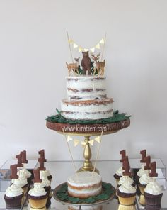 Inspired Photo of Rustic Birthday Cake . Rustic Birthday Cake First Birthday Cake Naked Cake Smash Cake Cupcakes First Rustic Birthday Cake, Birthday Cake With Photo, Birthday Cake Pictures, First Birthday Cupcakes, Wild One Birthday Party, 1st Boy Birthday, One Year Birthday Cake, Boys First Birthday Cake, Boys First Birthday Party Ideas