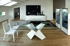 [ The Vinci Modern Dining Room Furniture Haikudesigns Antique Seats With Interesting Wood Chair ] - Best Free Home Design Idea & Inspiration Dining Room Sets, Modern Dining Room Tables, Dining Room Design, Dining Chairs, Modern Table, White Dining Table, Glass Top Dining Table, Contemporary Dining Room Furniture, Dining Furniture
