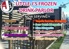 The best frozen-drink selection we've ever seen is at Little J's Bar on Washington Ave.!