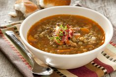 This vegan lentil soup recipe is hearty, healthy, dairy-free, and so easy to make. Whether you're vegan or not, you'll love this soup! Slow Cooker Lentil Soup, Vegan Lentil Soup, Lentil Soup Recipes, Lentil Loaf, Quinoa Soup, Dash Diet Recipes, Lunch Recipes, Cooking Recipes, Healthy Recipes