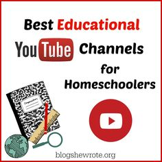 A list of favorite YouTube channels for teaching various subjects along with some examples. Best Educational YouTube Channels for Homeschoolers