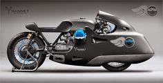 This Alpha-Guzzi beast Gannet designed for the revived Spanish brand Alpha Motocicletas