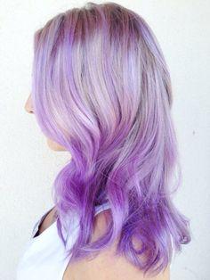 Pastel purple hair color