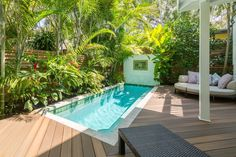 1011 South St, Key West, FL 33040 Outdoor Rooms, Outdoor Living, Outdoor Decor, Pool Landscape Design, Pool Landscaping, Backyard Pools, Backyard Projects, Pool Designs, Key West