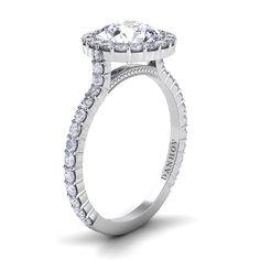 Danhov Caredza Single Shank Engagement Ring XE105  #danhov #diamonds #engagementrings #designer #weddingrings