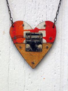FoFum Heart Necklace - reversible