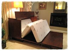 Murphy Bed Alternative http://www.cabinetbedsofva.com (see pref two photos)