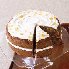 Gingered Carrot Cake with Cream Cheese Frosting