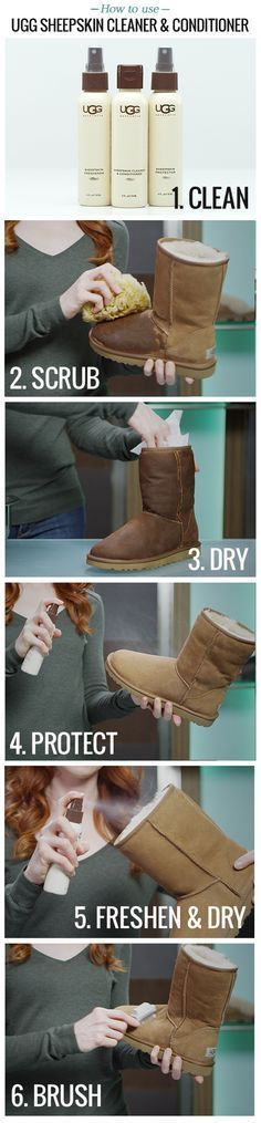 Here is a step-by-step guide on how to use the UGG® Australia Sheepskin Care Kit to its fullest abilities.