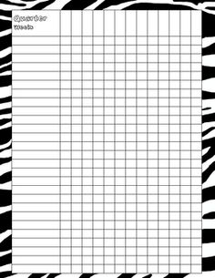 Zebra Print important paperwork for the teacher notebook.... Free