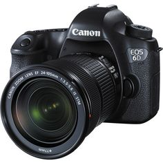 Canon EOS 6D EF 24-105mm IS STM Kit Featuring a high-resolution full-frame sensor within a compact body design, Canon's EOS 6D is a versatile DSLR championing both image quality and efficient handling