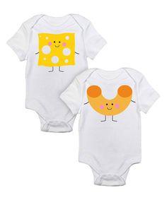 20bee685a Love you a Latte Shop White Mac   Cheese Bodysuit Set - Infant