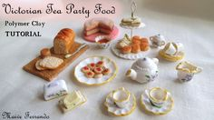 Victorian Tea Party Part 2: Simple Nibbles - Polymer Clay TUTORIAL