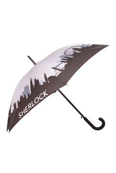 Grey Sherlock Skyline Umbrella