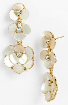 kate spade new york 'disco pansy' chandelier earrings Bling Bling, The Bling Ring, Wedding Jewelry, Jewelry Box, Jewelery, Handbag Accessories, Jewelry Accessories, Bridal Earrings, Drop Earrings