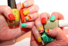 I usually hate the fancy nails that you see on the internet (why bother when it chips in 5 minutes) but I love color blocking.
