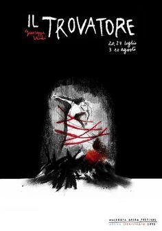 Il Trovatore - Giuseppe Verdi Locandina per Macerata Opera Festival 2013