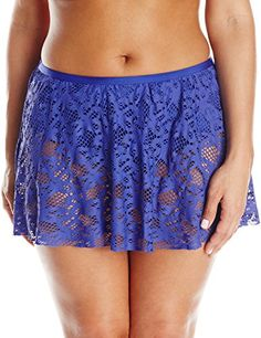 Kenneth Cole Women s Plus-Size Island Fever Rouched Skirted Bikini Bottom  at Amazon Women s Clothing store  d779eaa2b6ea9