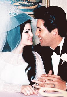 Elvis and Priscilla on their wedding day, May 1st, 1967.