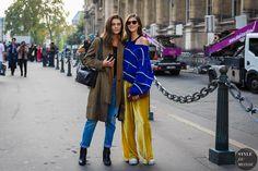 Paris SS 2018 Street Style: Marina Perez and Daiane Conterato