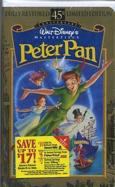 RARE 1998 LIMITED EDITION 45th ANNVIVERSARY DISNEY PETER PAN VHS SEALED