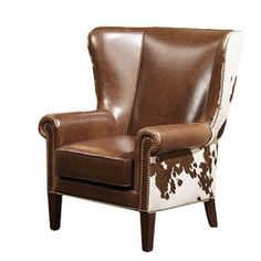 Dalton Leather Arm Chair  Two please...for my clients in the office...