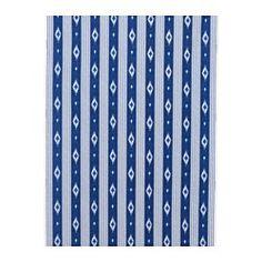 "SOMMAR 2016 fabric, stripe, blue Width: 59 "" Pattern repeat: 13 "" Area: 5.17 sq feet Width: 150 cm Pattern repeat: 32 cm Area: 0.48 m²"