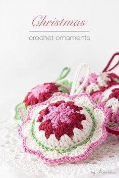 New Christmas crochet ornaments, pattern