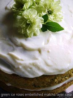 matcha + lemon cream victoria sponge cake 抹茶とレモンクリームのヴィクトリアスポンジ