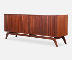 Custom Made Tambour Door Credenza by DMLA Studio