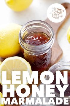 Here's a recipe for homemade Lemon Honey Marmalade. It's a sweet and tart version of old-fashioned marmalade. It's made with only 3 ingredients and refined sugar and pectin free. That makes this AIP jam, paleo and AIP friendly. Allergy Free Recipes, Paleo Recipes, Lemon Recipes, Fish Recipes, Brunch Recipes, Appetizer Recipes, Paleo Vegetables, Clean Eating Breakfast, Gluten Free Treats
