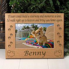 Pomeranian Memorial Dog Frame