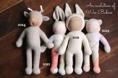An evolution of Wee Babies, by Fig and Me.