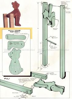 #1247 Acrobatic Bear Folk Toy Plans - Children's Wooden Toy Plans and Projects